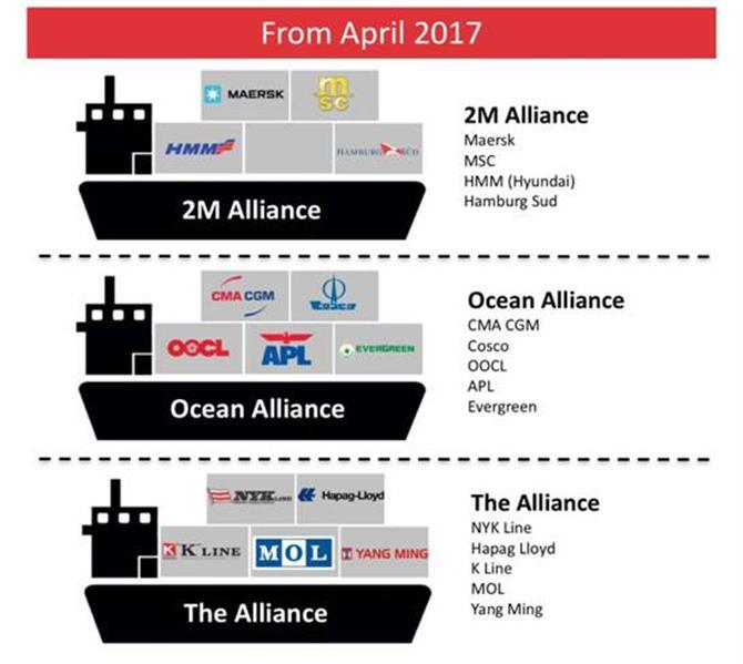 Liên minh hãng tàu và thị trường vận tải biển toàn cầu