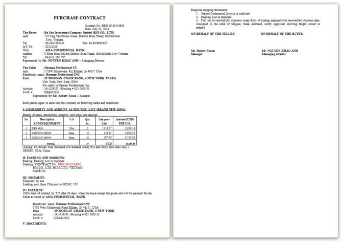 Mẫu Purchase Contract DBX 09-2014