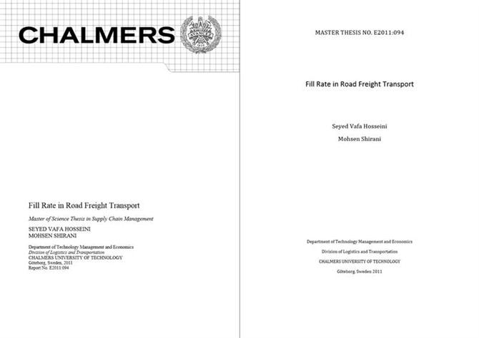 Fill rate in road freight transport