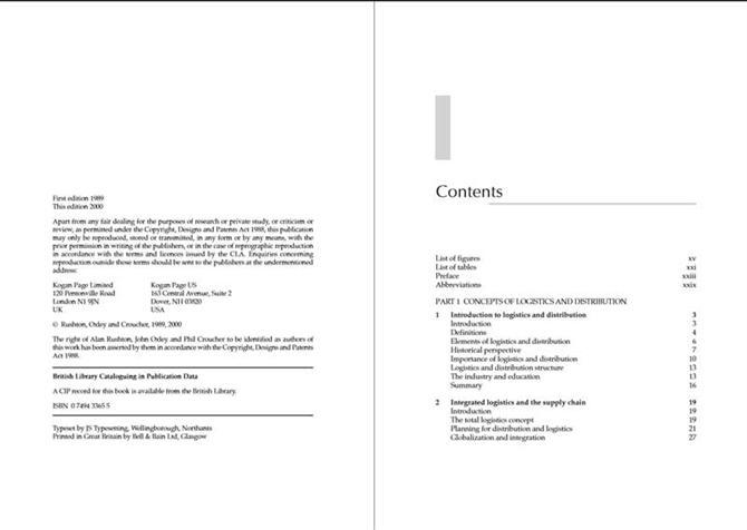 Handbook of logistics