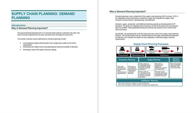 Supply chain planning - Demand planning