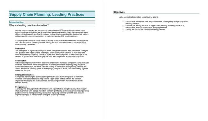 Supply chain planning - Leading practies