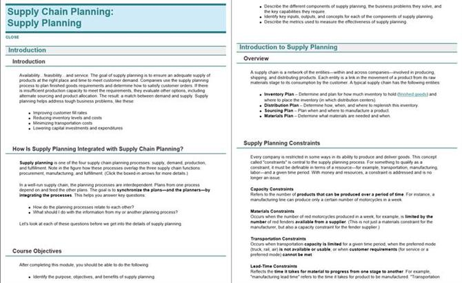 Supply chain planning - Supply planning