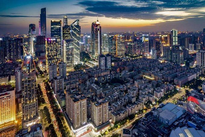 Một góc Quảng Châu về đêm