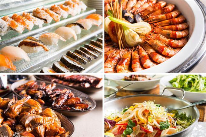 Món ăn đa dạng trong nhà hàng