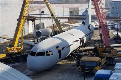 Review quả máy bay A320 tỷ lệ 1/1 của nông dân Trung Quốc
