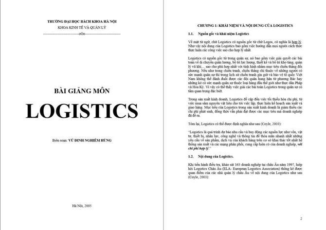 Bài giảng môn logistics