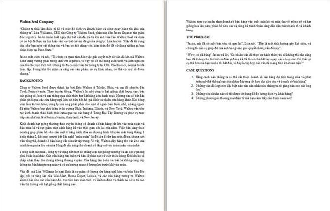 Case Study 3-1: Walton Seed Company