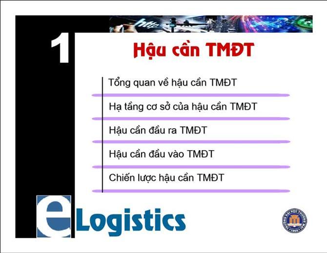 Giáo trình học E-logistics