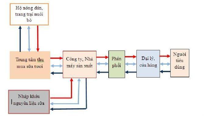 mô hình hoạt động của chuỗi cung ứng công ty sản xuất sữa