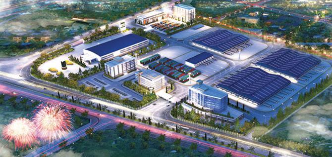 Cảng nội địa Mỹ Đình sẽ được di dời về Đức Thượng (Hoài Thượng, Hà Nội) với diện tích gần 18 ha.