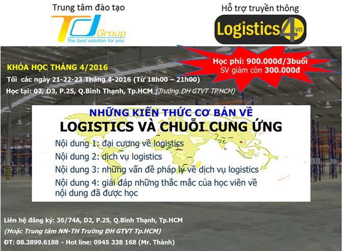 [HCM] Ưu Đãi 20% Và Cơ Hội Nhận Được 02 Suất Học Bổng Toàn Phần Khóa Học Những Kiến Thức Cơ Bản Về Logistics Và Chuỗi Cung Ứng