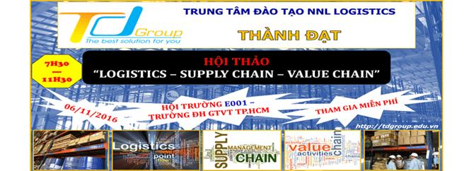 Hội Thảo LOGISTICS - SUPPLY CHAIN - VALUE CHAIN