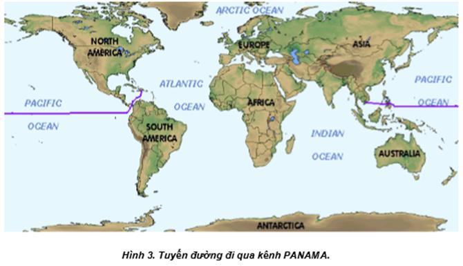 tuyến đường hàng hải đi qua kênh PANAMA