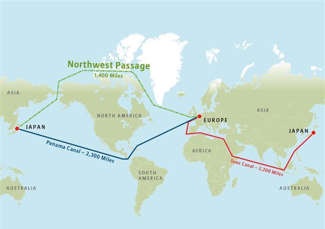 Hành lang Tây Bắc – tương lai của ngành hàng hải thế giới